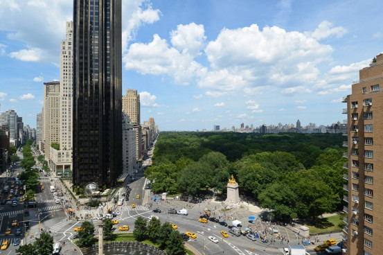 A view of Central Park from the roof of the Museum of Arts and Design on Columbus Circle.