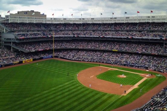 The NY Yankees at Yankee Stadium, Bronx NY