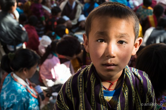 Young Bhutanese Boy at the Punakha Dzong