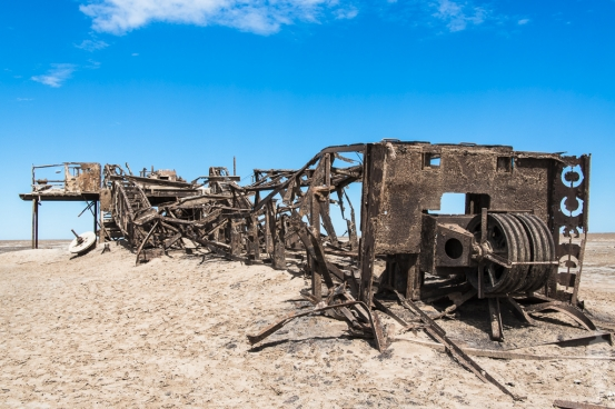 Abandoned Oil Rig on the Skeleton Coast, Namibia